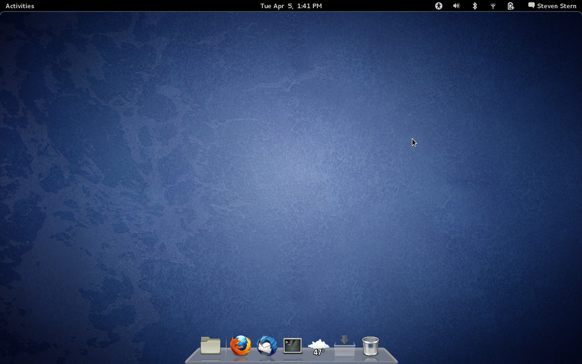 Unlike Prior Versions Of Gnome The Desktop No Longer Looks Like A Version Windows XP Theres Menu And There Are Files On